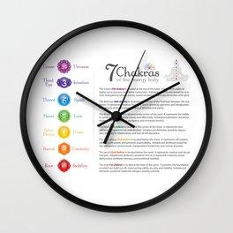 Seven Chakra Poster #43 Wall Clock