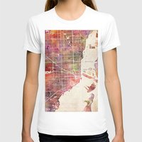 miami T-shirts featuring Miami by MapMapMaps.Watercolors