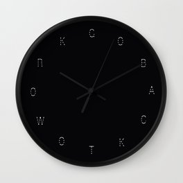 Go Back To Work Wall Clock
