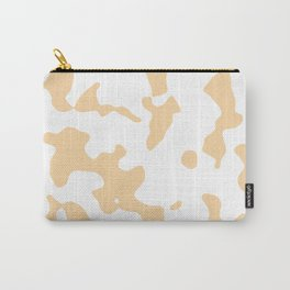 Large Spots - White and Sunset Orange Carry-All Pouch