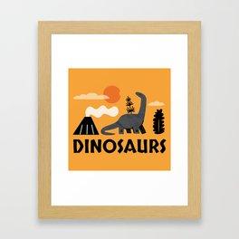 DINOSAUR WORLD Framed Art Print