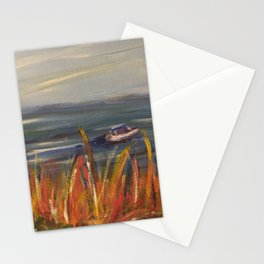 Boats on the Water Stationery Cards