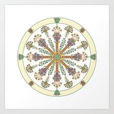 Egyptian Nouveau Mandala Art Print