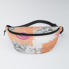 Cats and psychoanalysis Fanny Pack