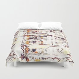 Homage to Kandinsky, with Watercolors Duvet Cover