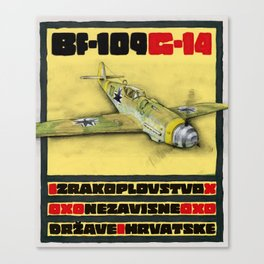 Bf-109 Airplane by Dennis Weber / ShreddyStudio Canvas Print