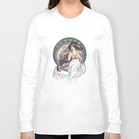mucha Long Sleeve T-shirts featuring Alfons Mucha Music by Puddingshades