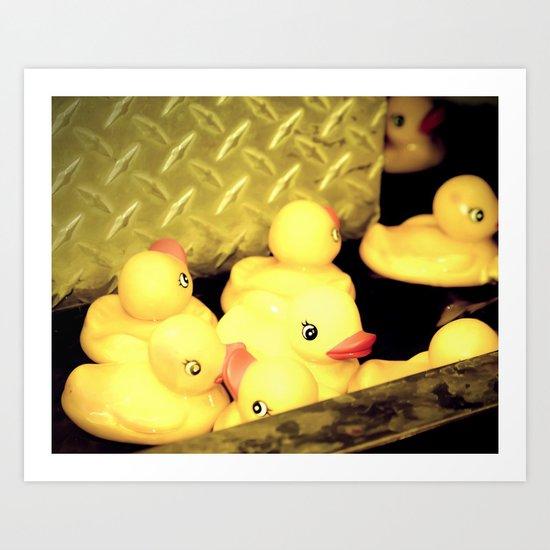 Rubber Duckie River Art Print