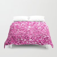 sparkles Duvet Covers featuring Pink sparkles by Hannah