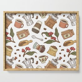 Coffee Break Pattern  Serving Tray