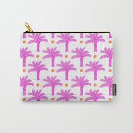 Pink Palm Trees Print Hot Pink Tropical Pattern Carry-All Pouch