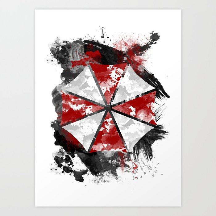 Resident Evil Umbrella Logo - Inspired by the Resident Evil games on the Playstation Art Print