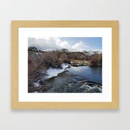 Winter River Awakening Framed Art Print