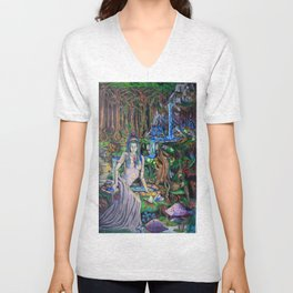 The Fountain loss Unisex V-Neck