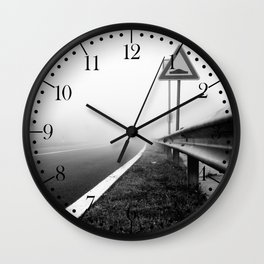 Attention to guardrail Wall Clock