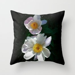 Blushing Peonies Throw Pillow