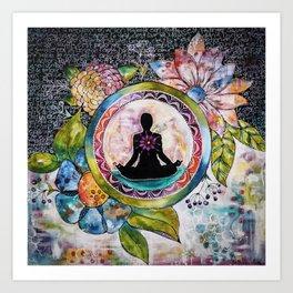 Meditation bag Art Print