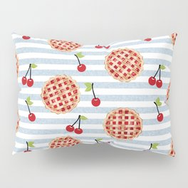 Pies with stripes trendy food fight apparel and gifts Pillow Sham