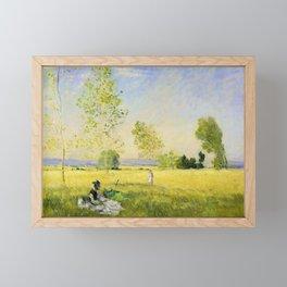 Claude Monet - Summer - Digital Remastered Edition Framed Mini Art Print