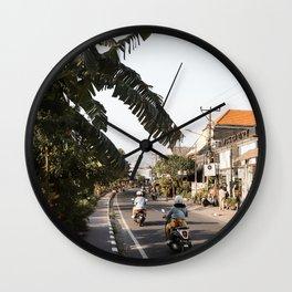 Tropical Road In Canggu Art Print | Bali Indonesia Photo Art Print | Travel Photography Wall Clock