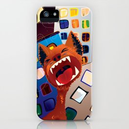 Eine Kleine Nachtmusik Red Cat iPhone Case