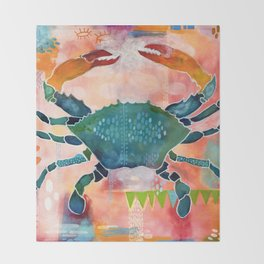 Blue Crab No. 1 Throw Blanket