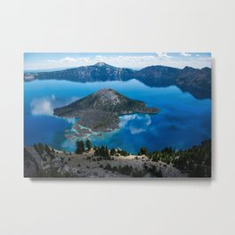 Crater Reflections Metal Print