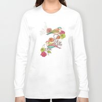 country Long Sleeve T-shirts featuring Country Garden by Amanda Dilworth