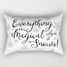 Gilmore Girls Quote - Magical Snow Rectangular Pillow