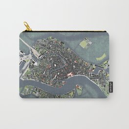 Venice city map engraving Carry-All Pouch