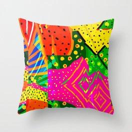 Fruity Melon Throw Pillow