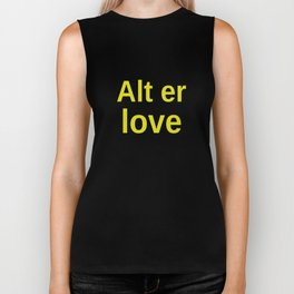 Alt er love yellow Biker Tank