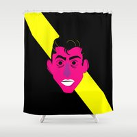 alex turner Shower Curtains featuring Alex Turner2 by AlexAzopardo