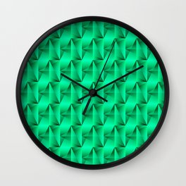 Strange arrows of light blue rhombs and black strict triangles. Wall Clock