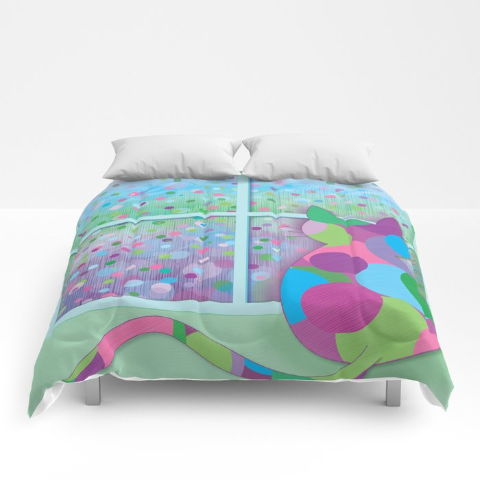 Beautiful Rainy Day Comforters