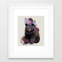 la Framed Art Prints featuring Ohkwari  by Kris Tate