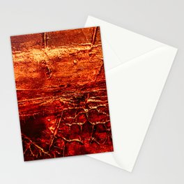 Rustic Textured Acrylic Painting on Wood Stationery Cards