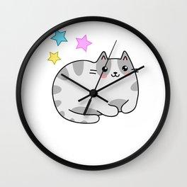 Kawaii Cat Manga Fans Kitten Lolita Wall Clock