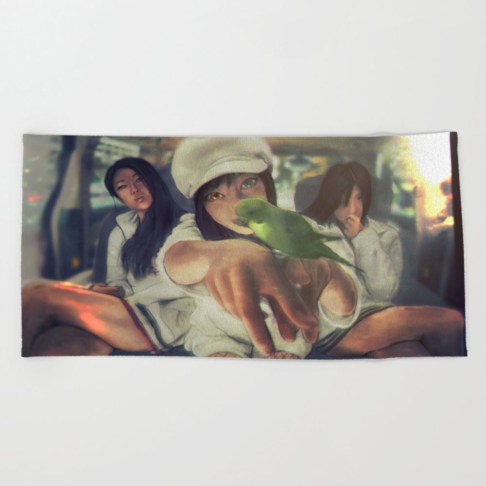Love Exposure Beach Towel by Thecraziestviolentsamurai BTL8287138