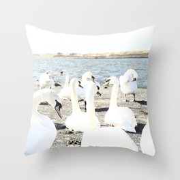 A royal gathering. Throw Pillow