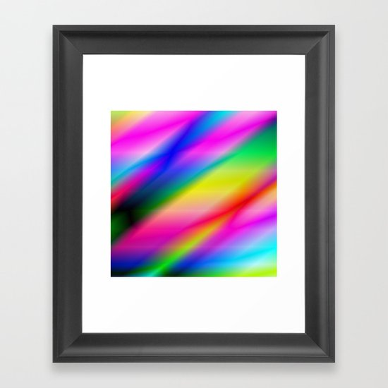 Rainbow Abstract Framed Art Print