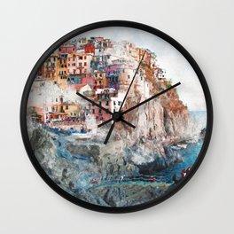Manarola Italy Wall Clock