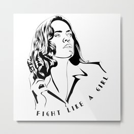Peggy Carter Fight Like a Girl Metal Print