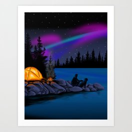 Camping Scenic Art Print