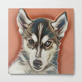 Alaskan Malamute Puppy Metal Print