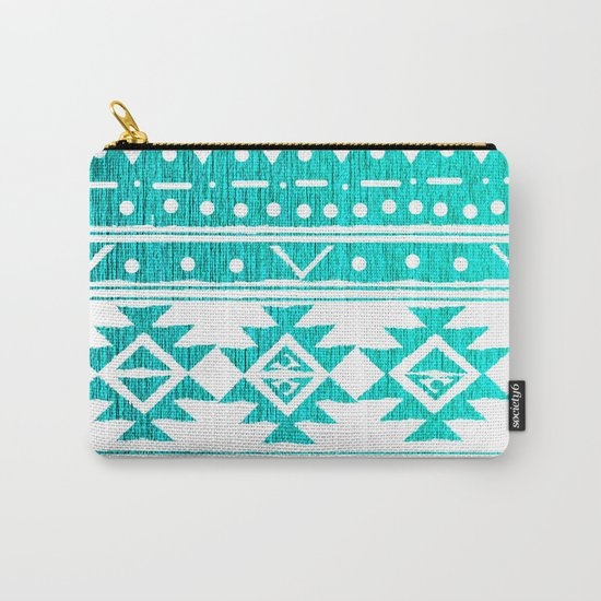 AQUAMARINE TRIBAL  Carry-All Pouch