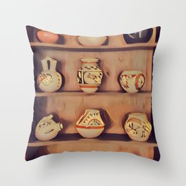 Indian Cupboard - Graphic 2 Throw Pillow