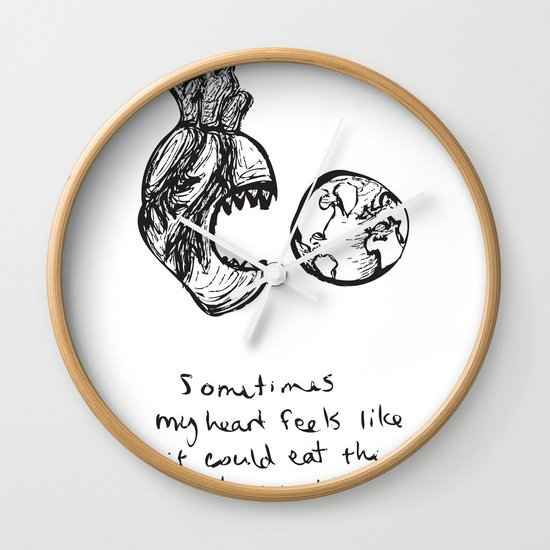 for the heart-hungry Wall Clock