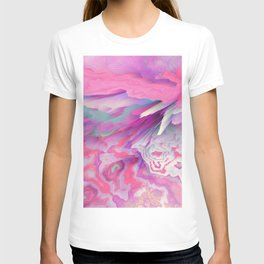 Loud Silence Glitched Fluid Art T-shirt