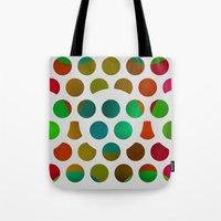 polka dot Tote Bags featuring Polka Dot Polka Dots  by Paul Ashby